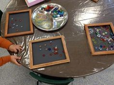 """Transient art with loose parts from Mrs. Chapman's Ks (ChapmanKs on Twitter) ("""",)"""