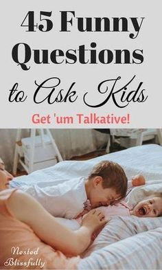 45 Funny Questions to Ask Your Kids These questions come handy when you need to get something done, but your kids need attention! Kids love them, tried and tested. Free Printable of the questions Included. Parenting Advice, Kids And Parenting, Gentle Parenting, Parenting Classes, Foster Parenting, Parenting Styles, Parenting Quotes, Parenting Websites, Peaceful Parenting