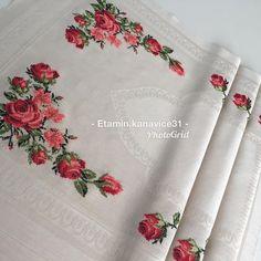 Cross Stitch Patterns, Embroidery, Canvas, Instagram, Cross Stitch Rose, Cross Stitch Flowers, Tablecloths, Cross Stitch Embroidery, Tricot