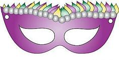 Print Your Own Ready-to-Wear Mardi Gras Masks for Free: Printable Mardi Gras Mask by Family Shopping Bag