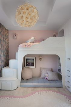 Children's Room in Butterfly House by Jamie Bush + Co. Bed For Girls Room, Bedroom Decor For Teen Girls, Cute Bedroom Ideas, Room Ideas Bedroom, Small Room Bedroom, Small Childrens Bedroom Ideas, Bedroom Ideas For Small Rooms For Teens For Girls, Childrens Bedrooms Girls, Small Girls Bedrooms