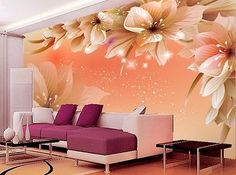 Cheap wallpaper bedroom, Buy Quality tv background directly from China photo Suppliers: Custom Photo Wallpaper Modern Flower Wall Mural Wall Paper Living Room Sofa TV Background Non-woven Fabric Wallpaper Bedroom 3d Wallpaper For Walls, Modern Wallpaper, Photo Wallpaper, Fabric Wallpaper, Bedroom Wallpaper, Glitter Wallpaper, Orange Wallpaper, Cheap Wallpaper, Wallpaper Ideas
