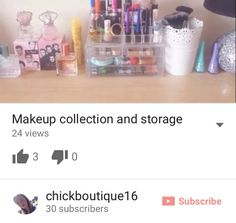 Who like a good makeup collection and storage well I uploaded this up last week so  sc 1 st  Pinterest & Please go check out my new YouTube video it would mean a lot to me ...