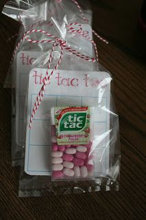 "Valentine's Day Tic-Tac-Toe - There are many tic tac game boards available by a google search for ""Tic Tac Toe Valentine"" for free personal use download. You can also use pink and red M&Ms in a small bag as game pieces. Option: Make your own game board with Word processing - or free hand. . Happy Valentine's Day!"