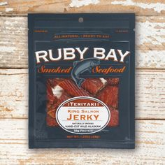 Teriyaki Salmon Jerky, now available on Amazon.com for $4.69 King Salmon, Teriyaki Salmon, Snack Recipes, Snacks, Smoked Salmon, Seafood, Amazon, Snack Mix Recipes, Sea Food