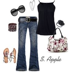 Love the tank, shoes and purse!