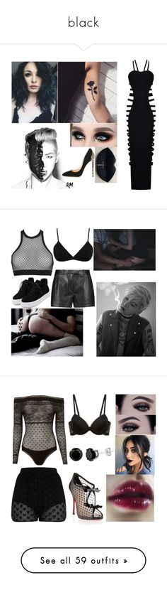 """black"" by masha-besogonova on Polyvore featuring мода, Cerasella Milano, Helmut Lang, Dsquared2, Emilio Pucci, WithChic, Faith Connexion, Calvin Klein Underwear, Christian Louboutin и Dorothee Schumacher"