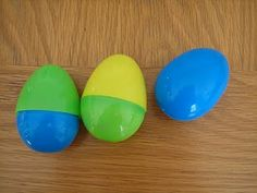 Students use plastic eggs to practice their Punnet square-solving-skills.