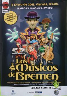 Los músicos de Bremen. Espectáculo para Navidad 2014 en Oviedo