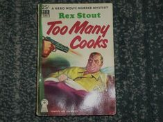 Vintage TOO MANY COOKS BY REX STOUT 1938 DELL PAPERBACK #540 MYSTERY BOOK, GUC