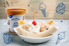 Банановый сплит — рецепт приготовления Ice Cream, Desserts, Recipes, Food, No Churn Ice Cream, Tailgate Desserts, Deserts, Icecream Craft, Recipies