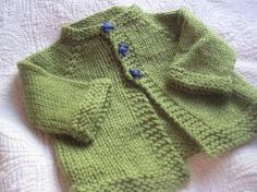 Newborn cardigan. Free knitting pattern. Pattern category: Baby Cardigan. Aran weight yarn. 150-300 yards. Features: Seamless, Top-Down. Intermediate difficulty level.