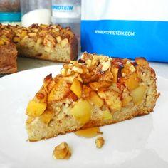 Recept: Ovesný jablkový koláč - Myprotein CZ Czech Recipes, Raw Food Recipes, Low Carb Recipes, Cookie Recipes, Healthy Recipes, Healthy Cake, Healthy Baking, Healthy Desserts, Easy Desserts