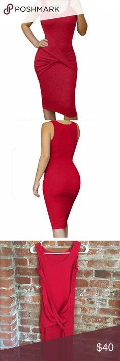 Sexy red bodycon bandage midi dress Sexy red bodycon bandage party midi dress Dresses Midi
