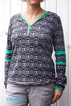 Schnittmuster / Ebook lillesol women No.14 Knopfshirt / Nähen Jersey Shirt / Sewing pattern Button Shirt