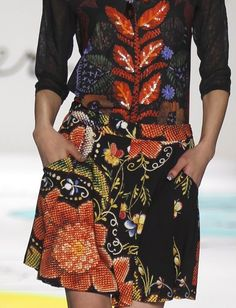 patternprints journal: PRINTS, PATTERNS, TEXTURES AND TEXTILE SURFACES FROM NEW YORK FASHION WEEK (WOMENSWEAR F/W 2015-16) / Desigual.