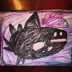 i swear to god if my child comes home from school with an orca whale drawing or craft... no.