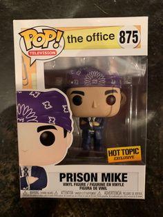 Funko Pop Prison Mike The Office , Funko Pop Prison Mike The Office. Funko Figures, Pop Vinyl Figures, Office Memes, Office Quotes, The Office Merch, Prison Mike The Office, Funko Pop Display, Marvel Room, Funko Pop Dolls