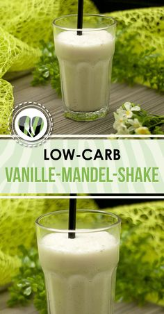 Vanille-Mandelmilch-Shake The vanilla-almond milk shake is low-carb, vegan and gluten-free and taste Low Carb Shakes, Almond Milk Shakes, Smoothies With Almond Milk, Sin Gluten, Gluten Free, Coffee Bad For You, Low Carb Smoothies, Ketogenic Diet Food List, Snow