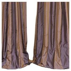 Crafted of faux silk taffeta, this indulgent Verona curtain panel is highlighted by classically-inspired striping. 100% Polyester Color: Purple