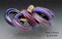 Handmade Glass Beads Rings Lampwork  6 Beyond by BeadsofPassion, $30.00