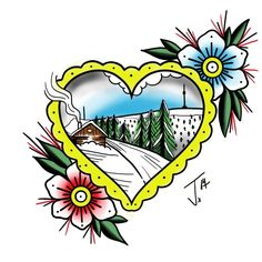 #heart #tattoo #praded #tribute #oldschooltattoo #traditionaltattoo #traditional #ink #olomouctattoo #wacom #wacomart