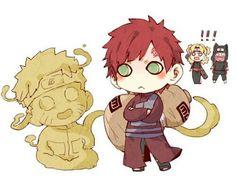 Sand Siblings, Gaara, Temari, Kankuro, Naruto, sand, cute, chibi; Naruto