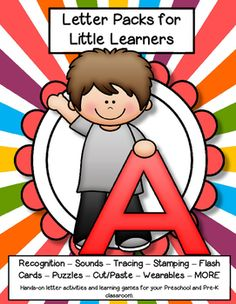 LETTER A - Letters for little learners – 62 pg. - recognition, sound, tracing and craftivities. Low prep. Appropriate for pre-readers.