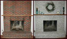 Fireplace brick resurfacing