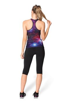 Galaxy Purple Combat (LIMITED) Top by Black Milk Clothing