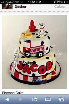 Firefighter cake ideas