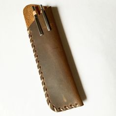 Every sword needs a sheath: H&L Leather Pen Case #pens #writing