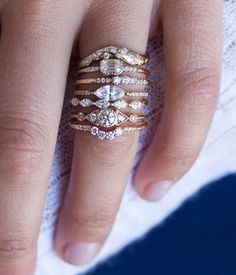 Emerald Cut Diamond with Pave - Audry Rose