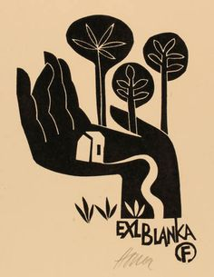 Art-exlibris.net - exlibris by Miroslav Houra for ? Blanka