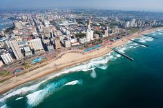 South Durban is a city in South Africa. Durban has a lot of stemming from the fact that it is a major destination. Among its most visited attractions are the Golden Mile, and Entertainment World, the uShakra World, King's Park Stadium, and Racecourse. Places To Travel, Travel Destinations, Places To Visit, Holiday Destinations, Holidays In April, Costa, Durban South Africa, Travel Center, Lakes