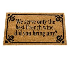 Covoras de intrare French Wine - Vivre