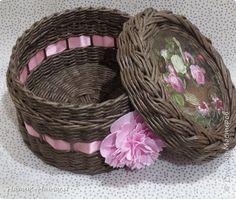 Поделка изделие Плетение Январь-февраль Трубочки бумажные фото 13