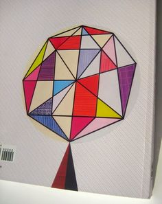 New Book preview : PRINT & PATTERN GEOMETRIC ISBN-13: 978-1780674148. Back Cover featuring Ellen Giggenbach tree design.