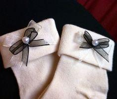 Detalle en los calcetines de bebé, para mi sobrina.