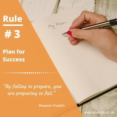 Rule #3 - Plan-To