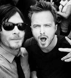 "Norman Reedus & Aaron Paul, SDCC my favorites from Walking Dead and Breaking Bad!!!!!!!!!!!! Katie: I should just put this in its own category called, ""Cool sh!t I missed even though I was AT SDCC."""