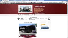 Diamond Cargo Trailers For Sale New website for Enclosed trailers.  They are a Factory Direct site for Diamond Cargo Trailers