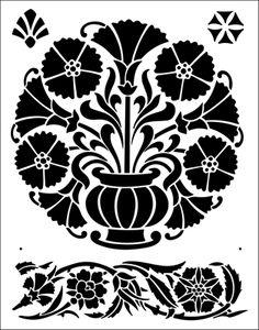 Ottoman stencil from The Stencil Library BUDGET STENCILS range. Buy stencils online. Stencil code TR12.