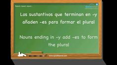 Number of nouns. Learn Spanish. intermediate. www.speakeando.com