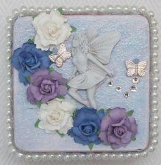 Fairy Trinket Box Jewelry Box Keepsake Box by @Dean Designs #sylink #zibbet
