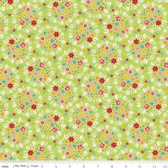 """Bloom & Bliss Wreath Green  Riley Blake Designs """"Bloom & Bliss"""" by Nadra Ridgeway. 100% cotton, pattern C4581-Green. Width: 112cm 100% Cotton Priced by the metre and sold in 25cm increments."""