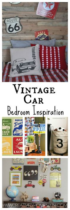 Vintage Car Bedroom Inspiration #boysroom #kidsroom #bedroom #diydecor