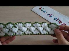 Kırık çiçekler modeli yapılışı,lif, battaniye, yelek, atkı,bere - YouTube