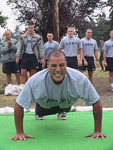 the armies fitness test, a good way to see if you are doing well with your own fitness!