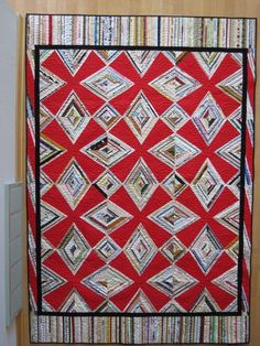 Red Zinger selvage quilt by Donna K. from Wisconsin. Nice job, Donna!